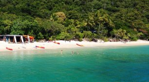 Water activities on Fitzroy Island  Fitzroy Island is spoilt for choice of outstanding water activities.  First head to the beach hire shed to see what activities are on offer.  Swimming and snorkelling are both great options on Fitzroy Island. Take in the Great Barrier Reef location's crystal clear waters and the fringe reefs they wash over.  But visitors who want more can take a 3-hour return sea kayaking route from the resort to Little Fitzroy Island.  Kayaks and paddleboards are available for hire on the island which also offers PADI certified scuba diving.  Next, take a glass-bottom boat tour to explore the reef around the island.  Then guests staying on the resort can cool off in the pool.
